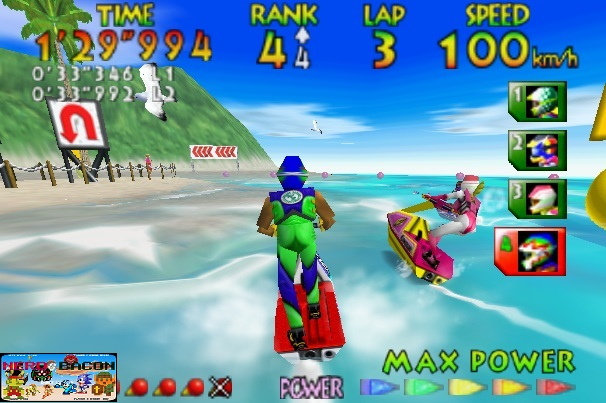 wave race 64 n64 gameplay screenshot