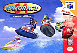 wave race 64 box art cover