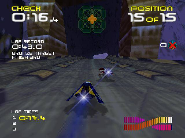 wipeout 64 gameplay screenshot