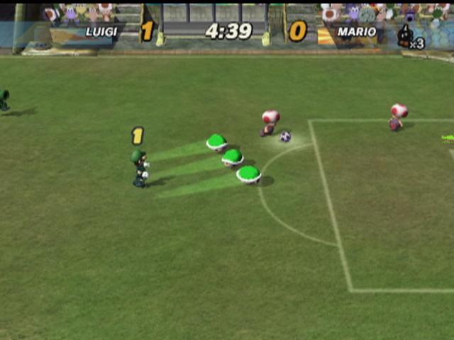 super mario strikers gameplay screenshot