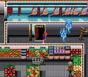 Zombies invade the local grocery store for food...Oh the irony.
