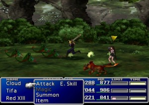 final fantasy vii battle