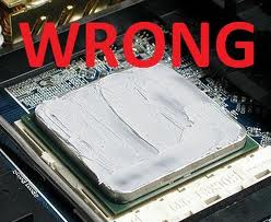 wrong thermal paste