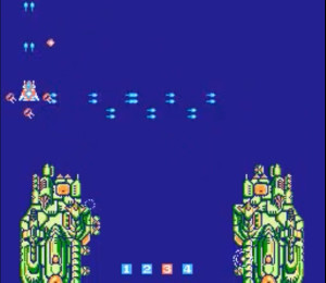 Then entire second level is played on a plain blue screen.