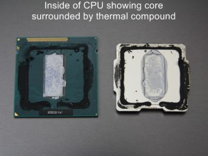 Ivy Bridge CPU with Top Removed