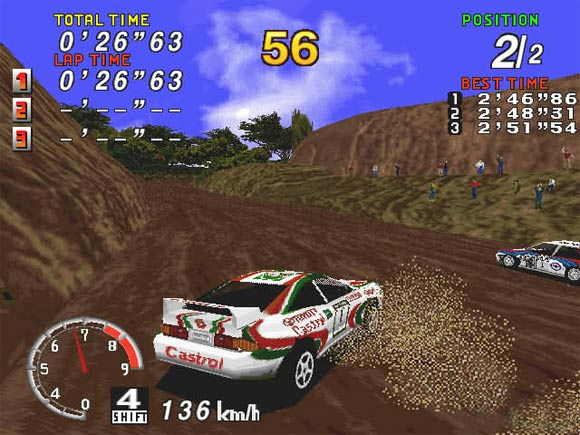 As you can see, the terrain varies and affects your vehicle's controlling.
