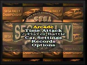 Sega Rally menu
