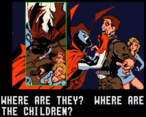 Spawn is ruthless in his protection of Cyan