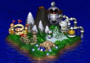 sonic 3d blast map