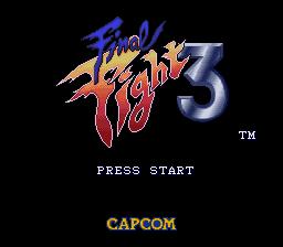 final fight 3 title screen