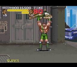 final fight 3 haggar super move