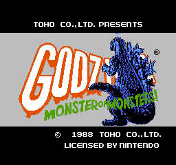 Godzilla:  Monster of Monsters – NES