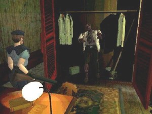 It's well documented that zombies enjoy hiding in closets.
