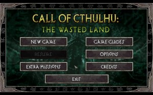 Call of Cthulhu Main Menu