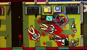 HINT:  You can find the walrus mask can be found on this dead body on the second floor in Chapter 2, Overdose.
