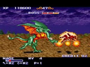 One of the many dragon bosses