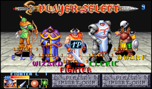 The classic RPG character select screen