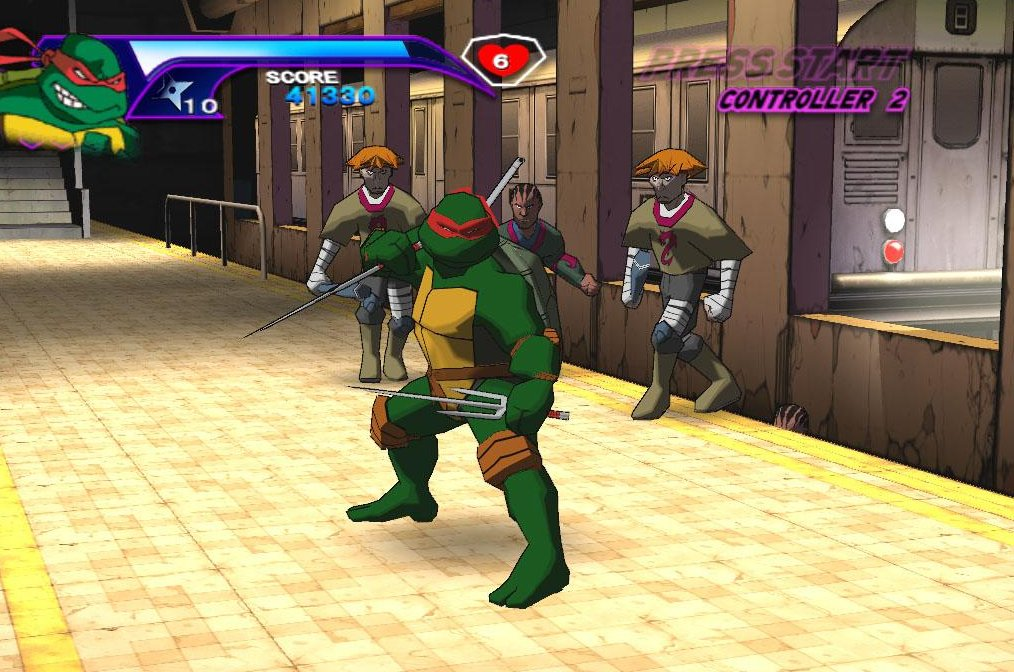TMNT GameCube alley