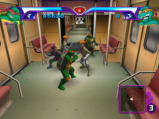 TMNT GameCube subway