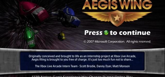 Aegis Wing – Xbox 360 (Live Arcade)