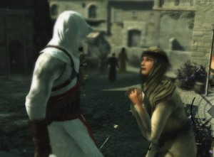 The Beggar's in Assassin's Creed are just as bad as the Arrow-In-The-Knee Guards from Skyrim.