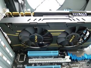 PNY NVidia GTX 760 Installed