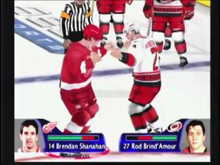NHL 2k fight