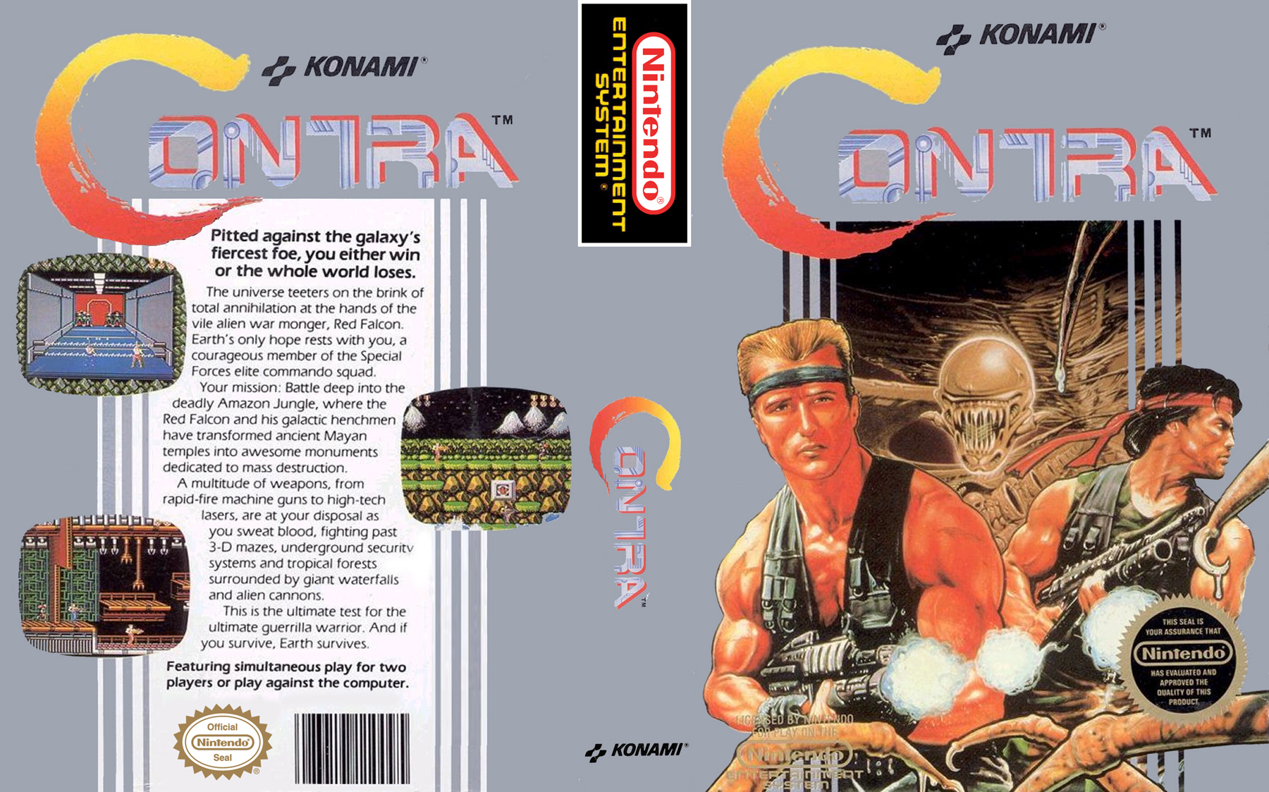 NES-Contra-Custom-Cover - Nerd Bacon Reviews