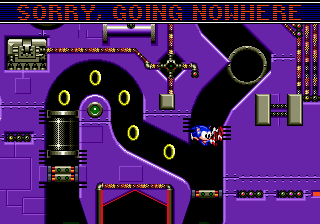 Sonic Spinball Genesis special stage