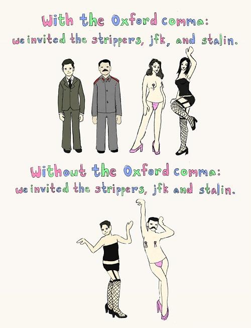 Oxford Comma Explanation
