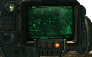 This the Capital Wasteland as it appears in your Pip-Boy.
