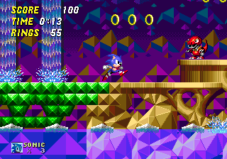 Hidden Palace Zone: Zone 6. Another great example of the incredible usage of colors by Sonic Team