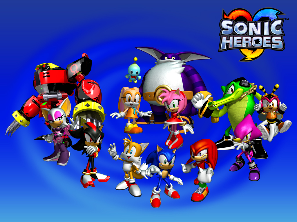"All of the playable ""heroes"" in Sonic Heroes"
