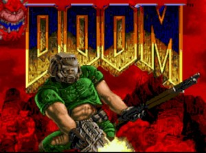 This is Doomguy, the protagonist of the Doom series.
