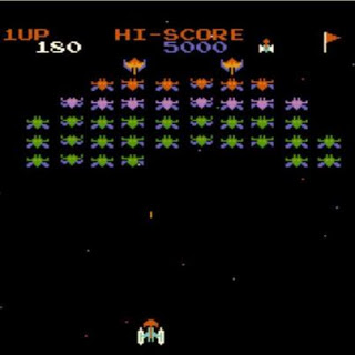 Galaga's precursor from 1979, Galaxian