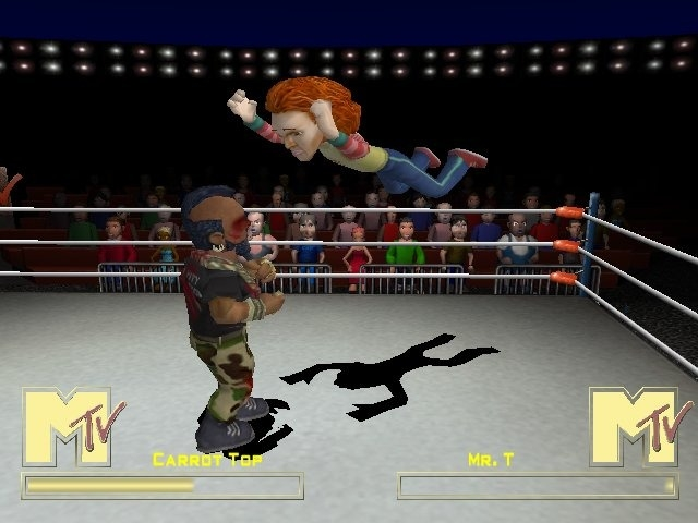 Carrot Top is well known for his special diving move, the Carrot Drop.