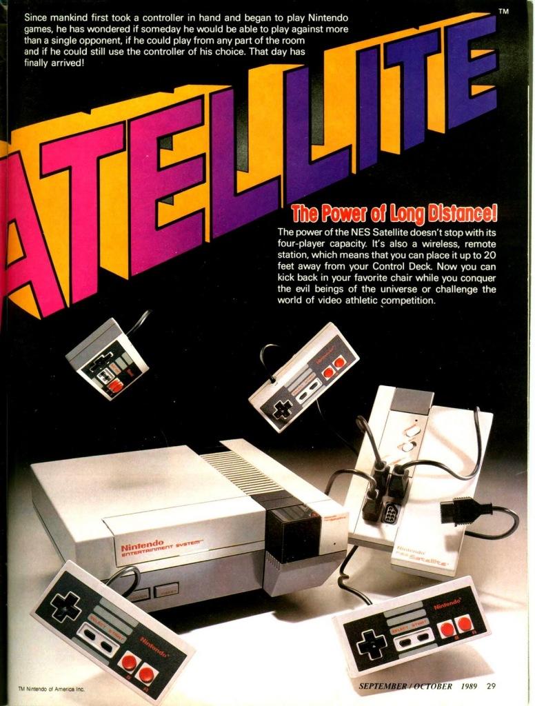 NES Satellite magazine ad.