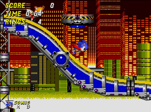 One of the most memorable (and often most-hated) zones in Sonic 2.