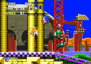One of the absolute coolest looking levels in the Sonic series. Reminds me a bit of Oil Ocean Zone from Sonic 2, but it's way cooler!