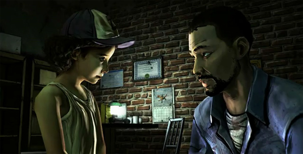 Lee coming clean to Clementine about his past.