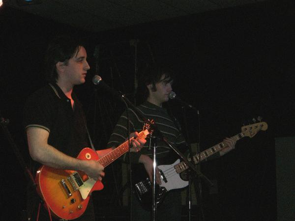 Keith (left) and Blake (right) playing a show together.