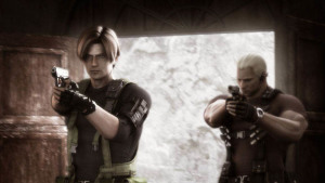 "Leon and Krauser ""BRO-ing"" down."