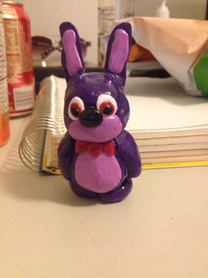 Yes, Five Nights at Freddy's has inspired me to work with clay again. Introducing, Clay Bonnie!