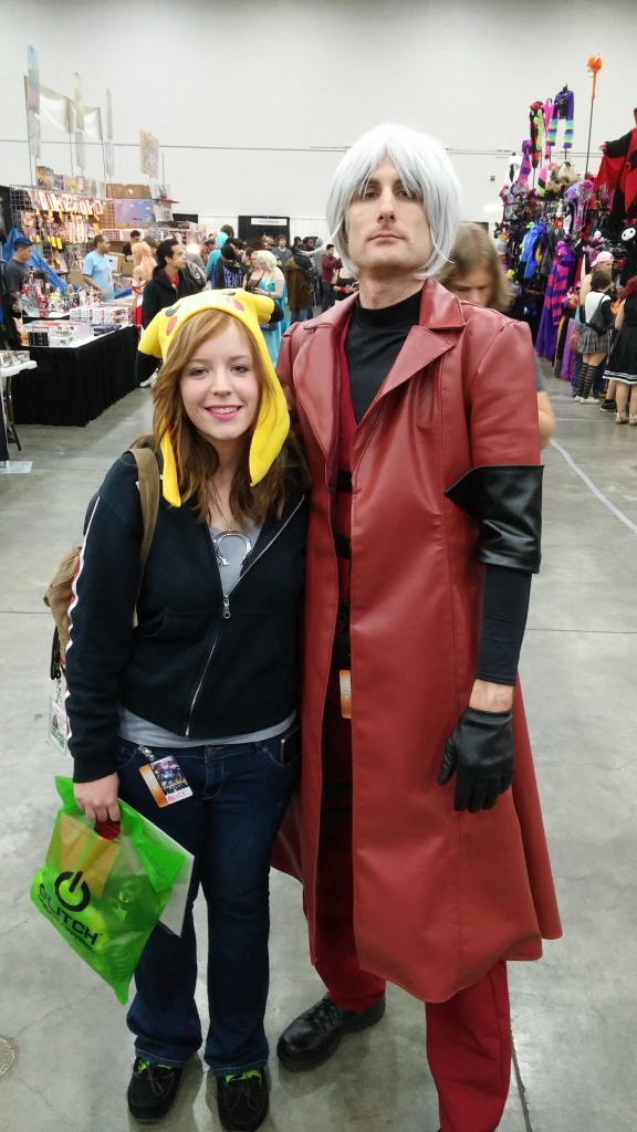 I had been searching for Dante from Devil May Cry all weekend, so when I finally found him I freaked out. He actually started back away from me.
