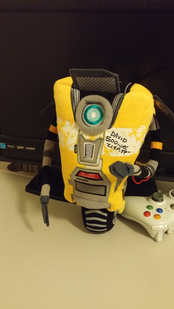 He signed our claptrap for us!!!