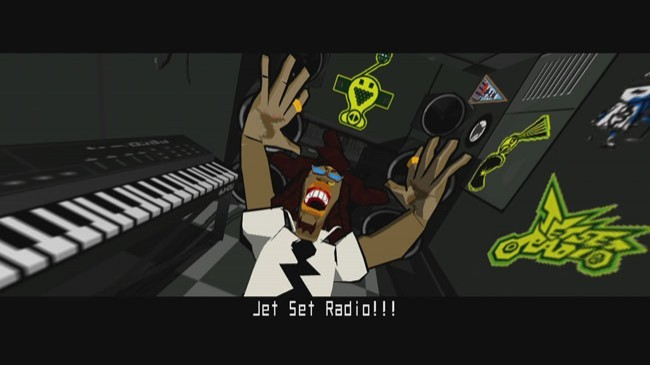 Despite being called Jet Grind Radio in NA, Professor K thinks he's in Jet Set Radio.
