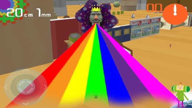 Royal Rainbow!! This wacky multi-colored up chuck is how all levels end.
