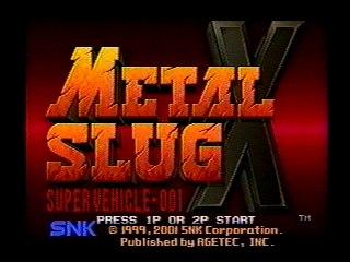 Metal Slug X – Neo Geo AES