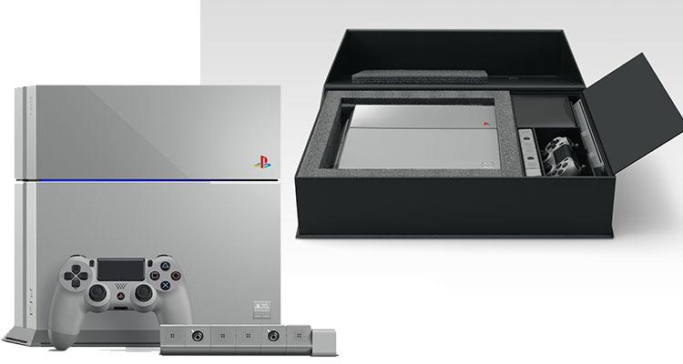 original grey playstation 4 box