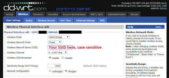 DD-WRT - Basic Settings